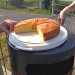 Fast-Ziel-Belohnung: selbst gebackener Saftkuchen von Thomas' Mama.